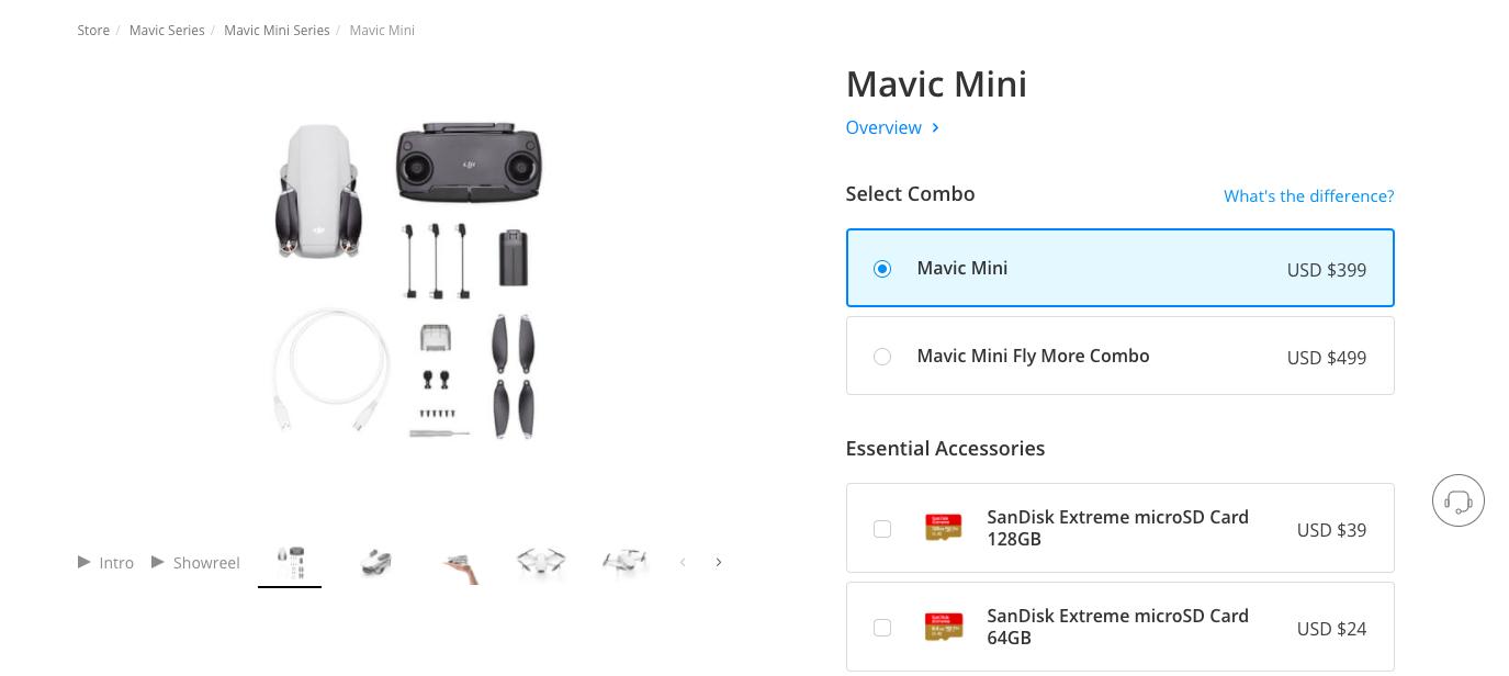 DJI Mavic Mini SD card